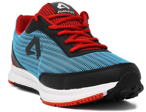 Athletic Running Shoes (Sky Blue/Red)