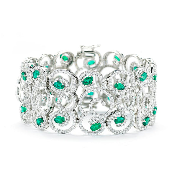 18K EMERALD AND DIAMOND BRACELET - THE LUSTRO HUT