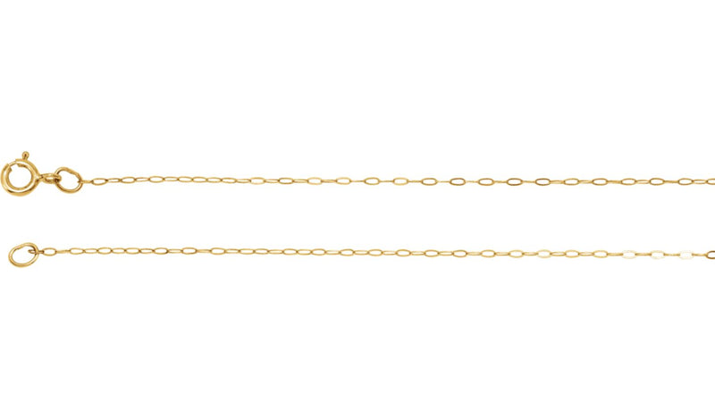 "14K Yellow .50 mm Solid Cable 20"" Chain"