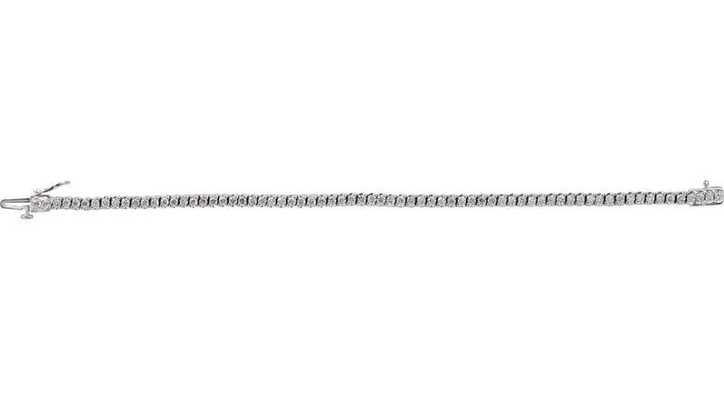 "14K White Gold 2 3/4 CTW Diamond 7"" Line Bracelet"