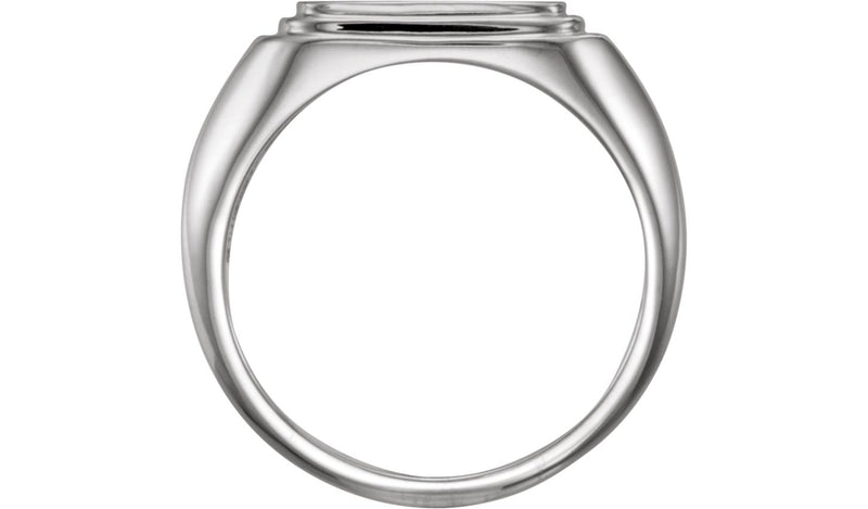 Sterling Silver Posh Mommy® Men's Square Signet Ring