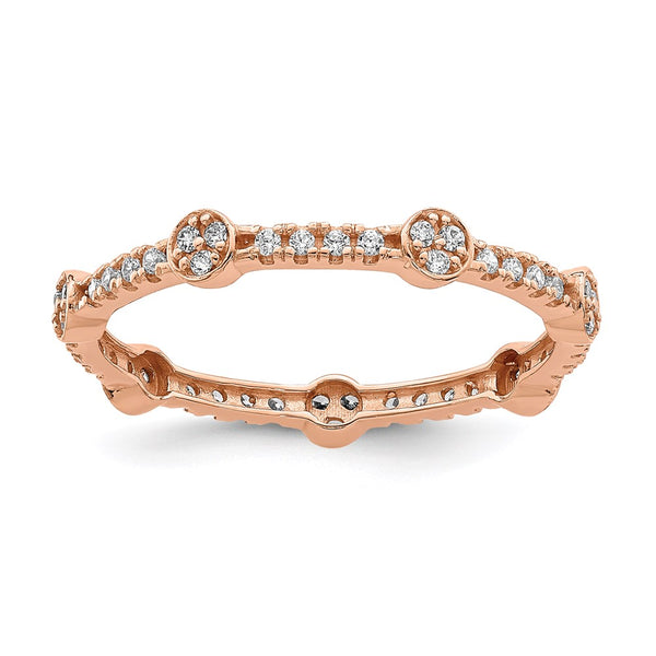 10K Rose Gold CZ Ring