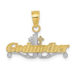 10k & Rhodium #1 Godmother Charm