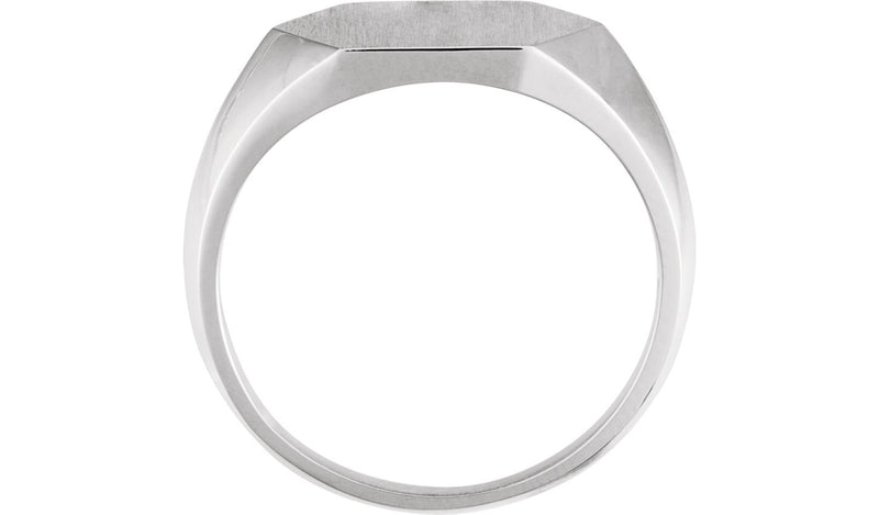 Sterling Silver 14 mm Signet Ring