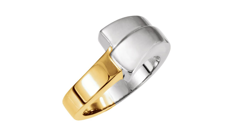 14K White & Yellow Fashion Ring - THE LUSTRO HUT