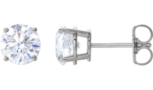 14K White 2 CTW Diamond Earrings - THE LUSTRO HUT