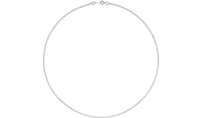 "Sterling Silver 2.1 mm Cable 24"" Chain"