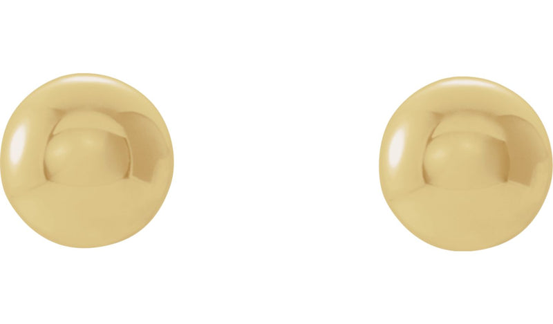 14K Yellow 5 mm Ball Earrings
