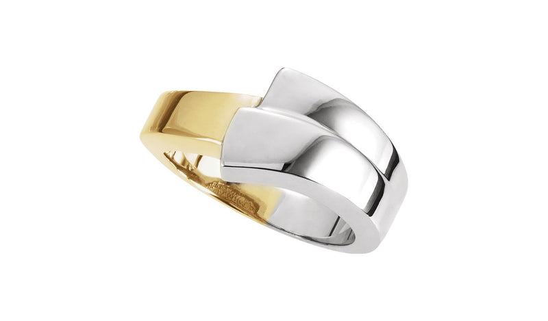 14K White & Yellow Fashion Ring