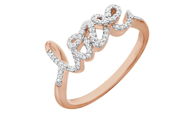 14K Rose 1/6 CTW Diamond Ring