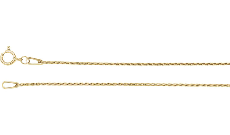 "14K Yellow .85 mm Baby Wheat 18"" Chain"