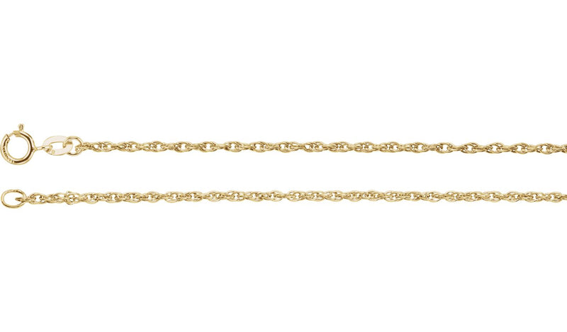 "14K Yellow 1.5 mm Rope 16"" Chain"