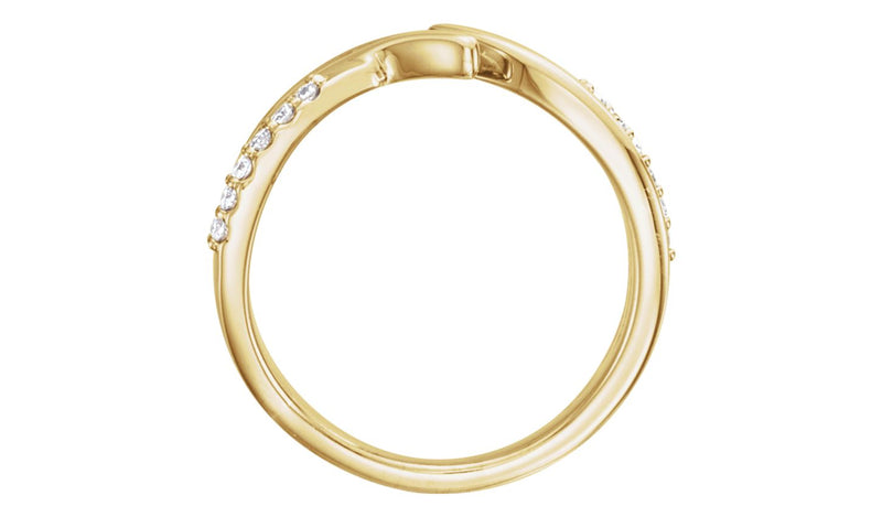 14K Yellow 1/8 CTW Diamond Bypass Ring