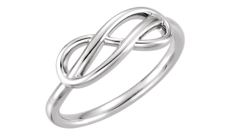 14K White Double Infinity-Inspired Ring