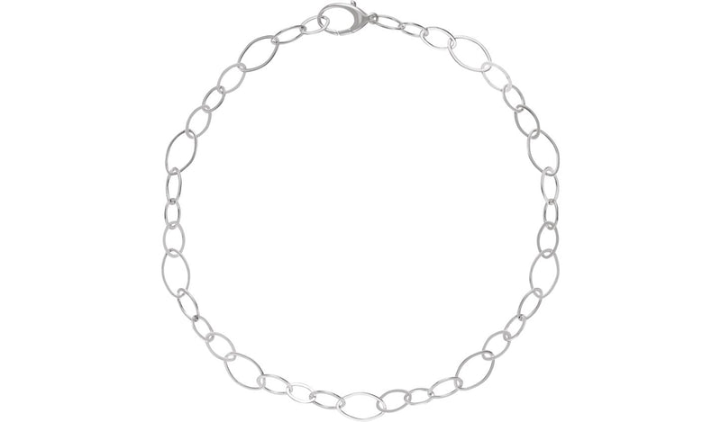 "Sterling Silver Link 18"" Necklace"