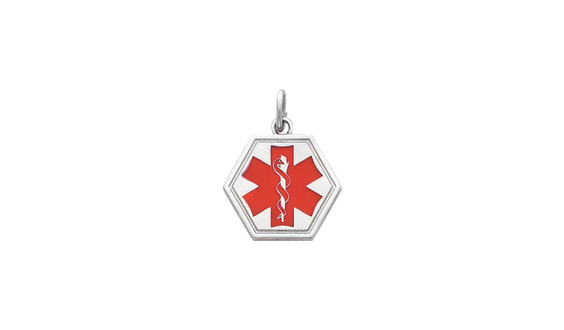 Sterling Silver Medical I.D. Pendant
