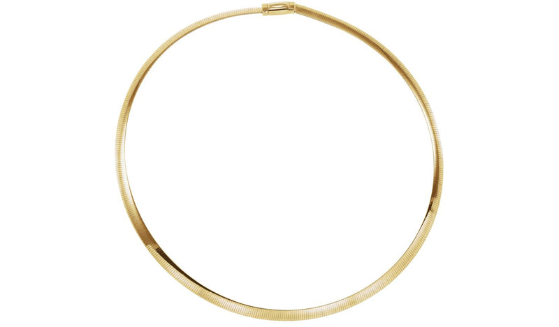 "14K Yellow & White 6 mm Two-Tone Reversible Omega 18"" Chain"