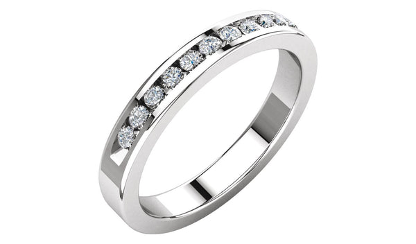 1/4 CTW Diamond Classic Channel-Set Anniversary Band