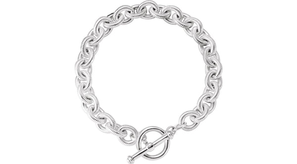 10 mm Fancy Curb Link Bracelet - THE LUSTRO HUT