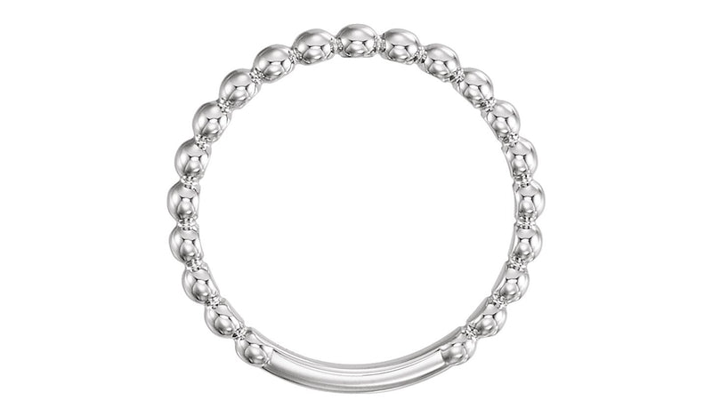 Platinum 2.5 mm Stackable Bead Ring