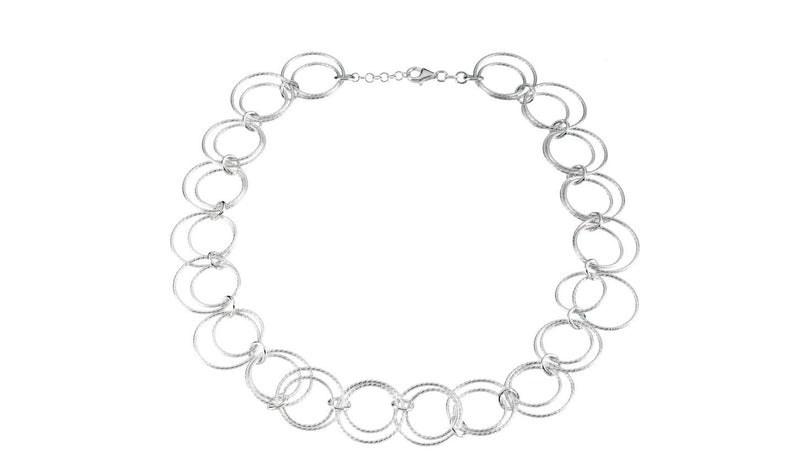 "Sterling Silver Adjustable Circle 18"" Chain"