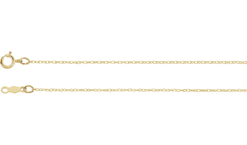 "14K Yellow .75 mm Rope 7"" Chain"