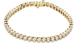 "14K Yellow Gold 3 CTW Diamond Line 7.25"" Bracelet"
