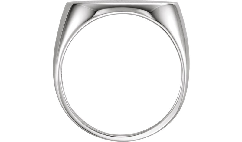 Sterling Silver 18x12 mm Men's Oval Signet Ring