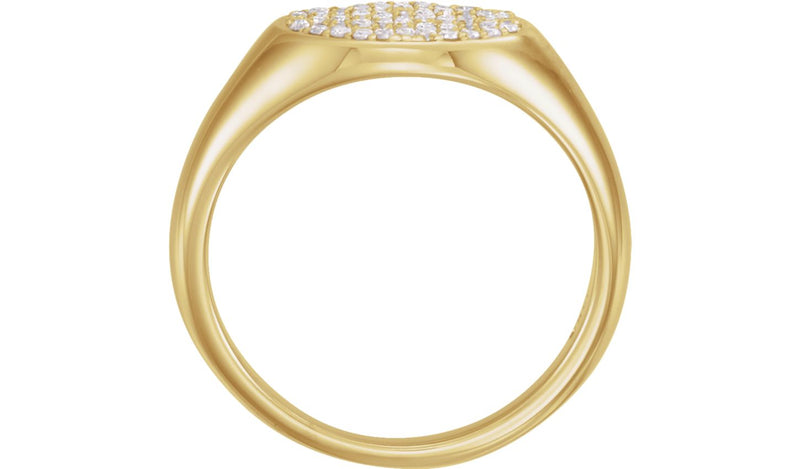 14K Yellow 1/3 CTW Diamond Pavé Ring