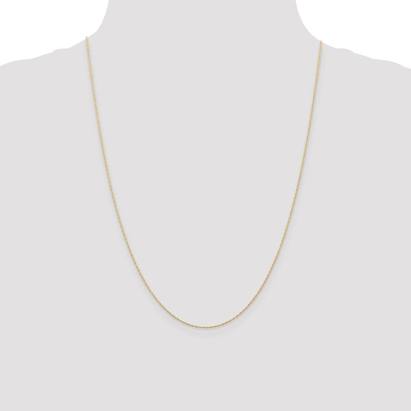 14k Rose Gold .5 mm Cable Rope Chain (CARDED)