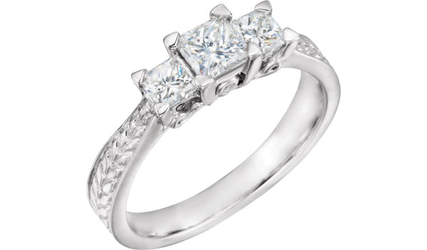 1 CTW Diamond 3-Stone Anniversary Ring - THE LUSTRO HUT
