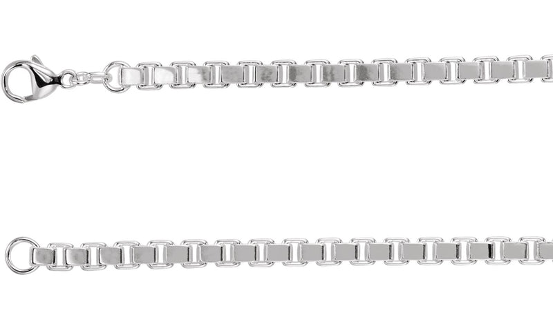 "Sterling Silver 4.5 mm Box 16"" Chain"