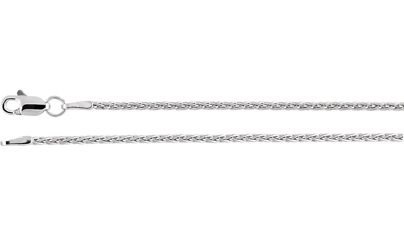 "Sterling Silver 1.5 mm Wheat 20"" Chain"