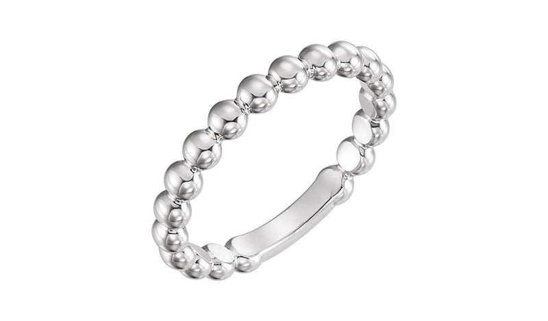 Sterling Silver 3 mm Stackable Bead Ring - THE LUSTRO HUT