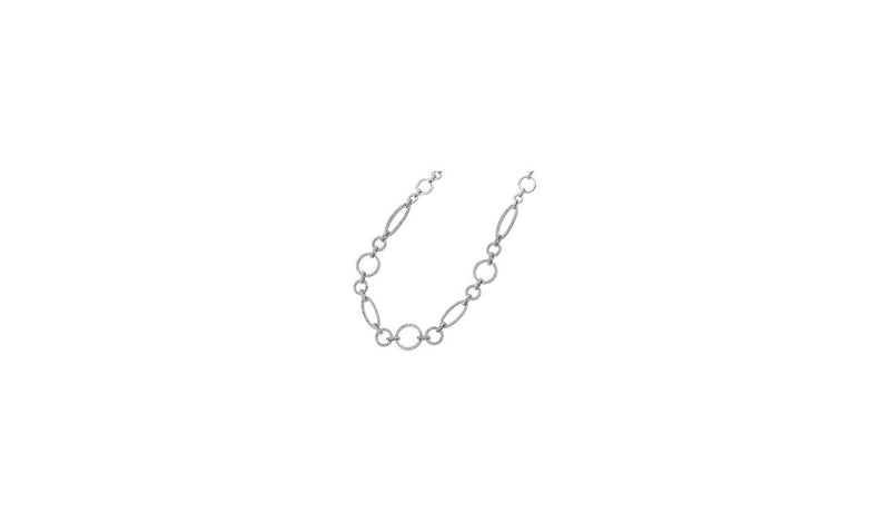 "14K White 1 1/2 CTW Diamond Link 16"" Necklace"