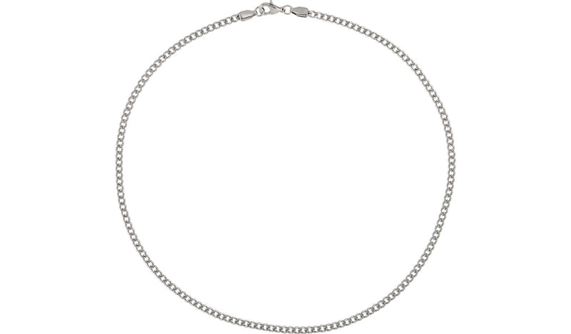"Stainless Steel 3.2 mm Diamond-Cut Curb 18"" Chain"