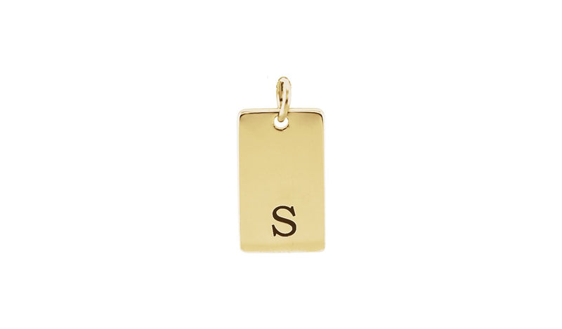 14K Yellow 34x10 mm Be Posh® Rectangle Pendant