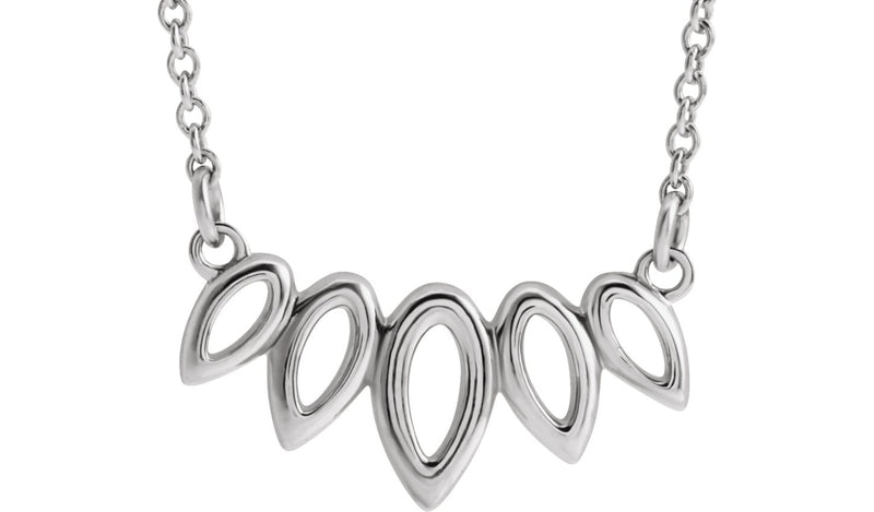 "Platinum Leaf 16-18"" Necklace"