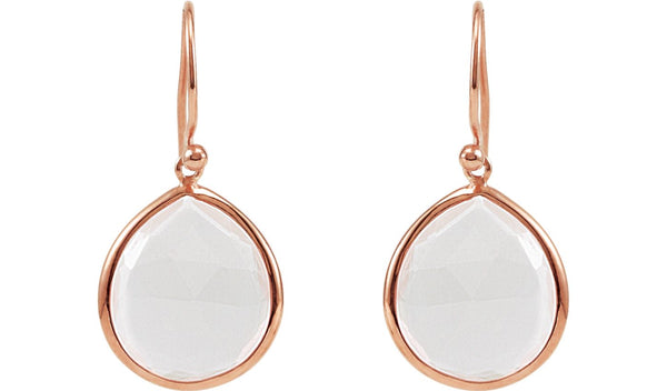 14K Rose Gold-Plated Sterling Silver Rose Quartz Earrings