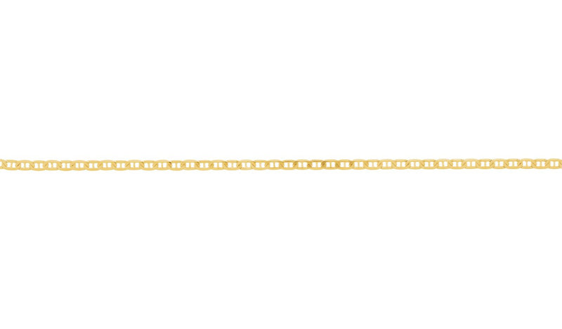 "14K Yellow 3.7 mm Solid Anchor 24"" Chain"