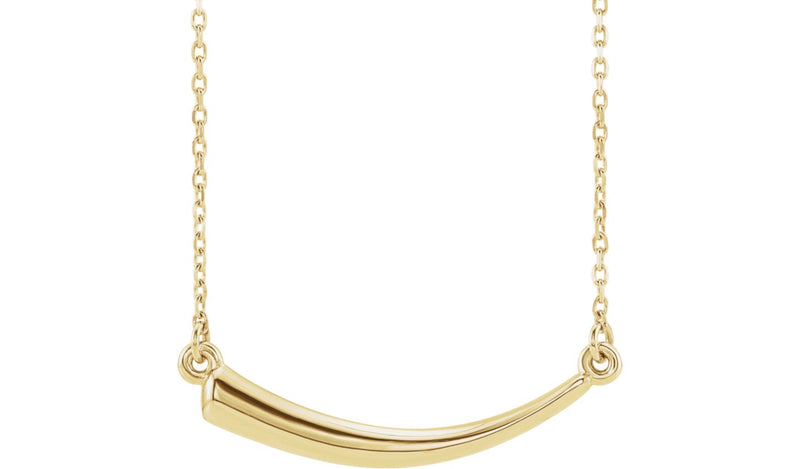 "14K Yellow Horn 16-18"" Necklace"