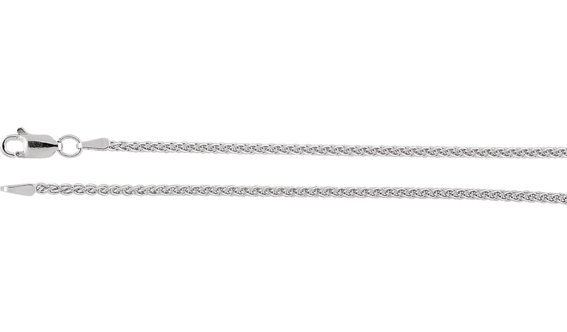 "14K White 1.8 mm Wheat 20"" Chain"