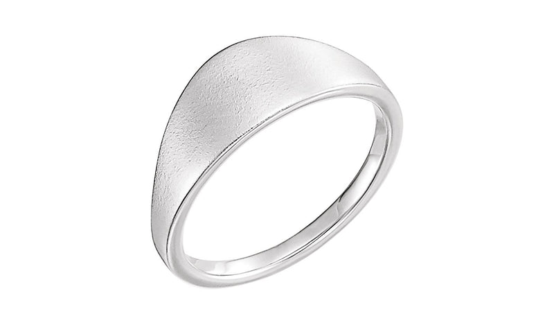 Sterling Silver Geometric Signet Ring