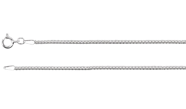 1.75 mm Sterling Silver Popcorn Chain