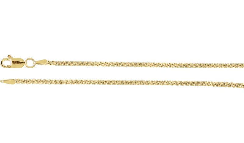 "14K Yellow 1.8 mm Wheat 24"" Chain"