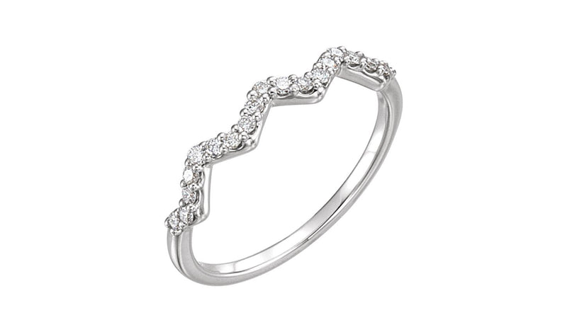 14K White 1/5 CTW Diamond Stackable Ring