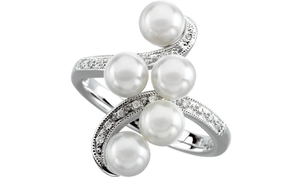 Five-Stone Ring for Pearl