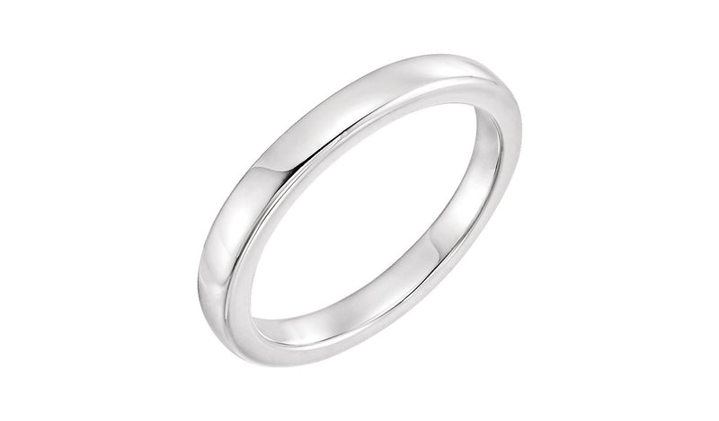 14K White Solstice Solitaire® #16=2.5-6.0 CT Tapered Bombé Matching Band - THE LUSTRO HUT