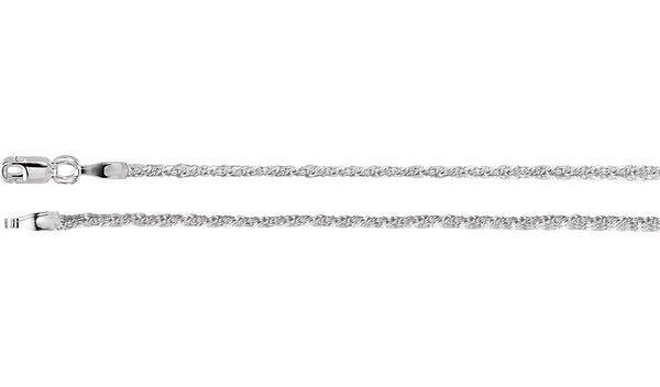 1.5 mm Sterling Silver Twisted Wheat Chain