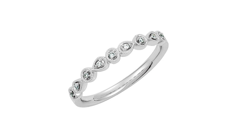 Platinum .04 CTW Diamond Ring Size 7 - THE LUSTRO HUT